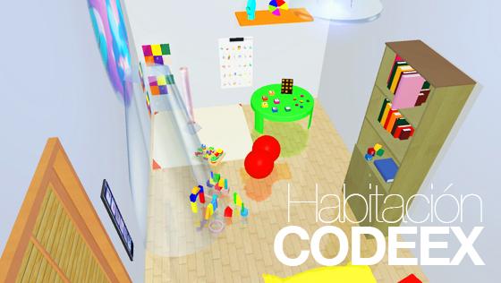 Habitación Codeex. Comunicación, desarrollo y experimentación para niños con TEA / TGD y discapacidad intelectual.