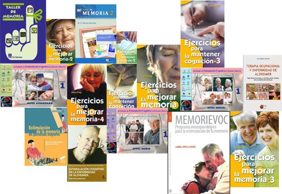 Libros para realizar actividades con mayores y personas con Alzheimer