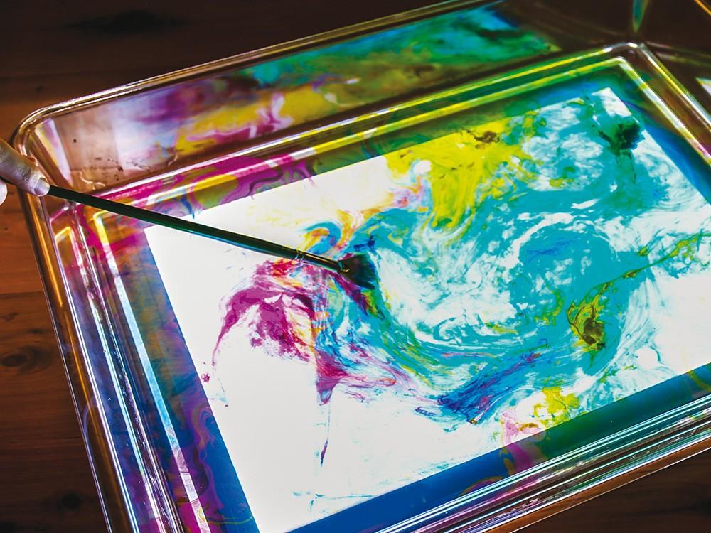 mesa luz pintura