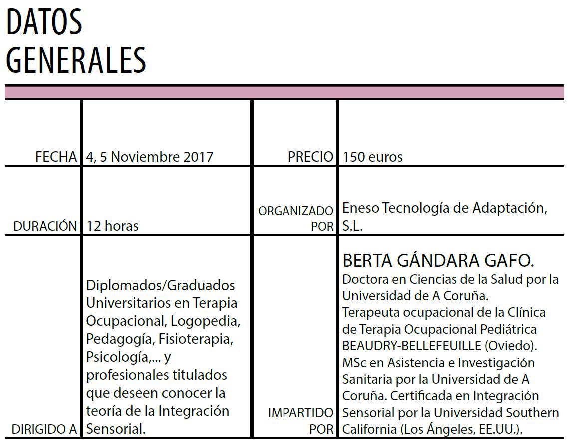 """Nueva convocatoria del curso: """"Introducción al enfoque de la Integración Sensorial"""""""