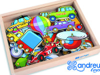 Set of magnetic vehicles - Box with 20 units of magnetic vehicles