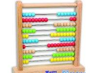 Ábaco - Ábaco con 10 varillas y bolas de colores