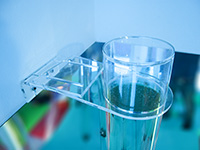 Bubble Tube Bracket - White - Secure the top of your bubble tube to a wall, shelf or other structure