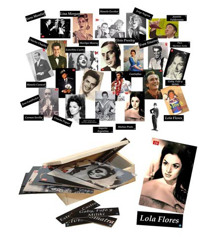 Adivina quién es - Caja de 25 fotografías y fichas de famosos de entre los 50