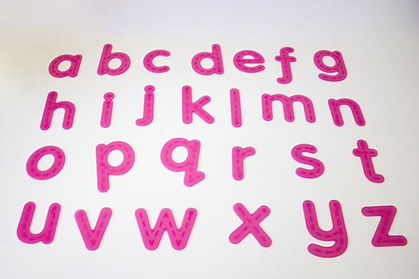 SiliShapes Trace Alphabet - 26 silicon letters