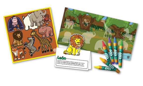 Animales salvajes - Kit para aprender sobre los animales de la selva