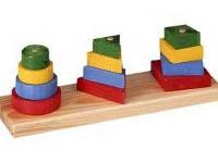 Apilable 3 figuras geométricas - Figuras de colores apilables