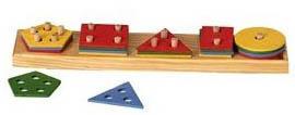 Apilable 5 figuras geométricas - Figuras de colores apilables