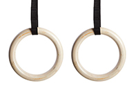 Suspension Rings - Wood suspension rings for balance