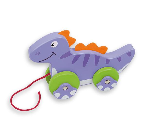 Arrastre Dinosaurio - Pasea a este divertido juguete de madera