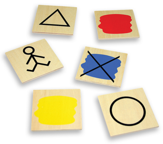 Atributos bloques lógicos - 20 piezas para trabajar las propiedades de los bloques