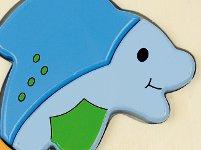 Baby puzzle delfín - Puzle-encaje de madera con forma de delfín