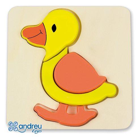 Baby puzzle pato - Puzle-encaje de madera con forma de pato