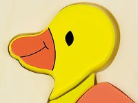 Baby puzzle duck - Wooden duck shaped puzzle