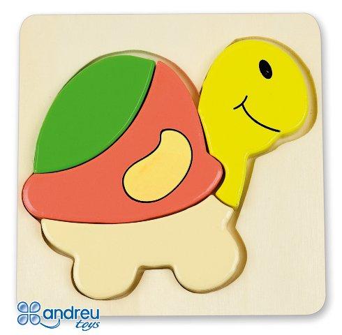Baby puzzle tortuga - Puzle-encaje de madera con forma de tortuga
