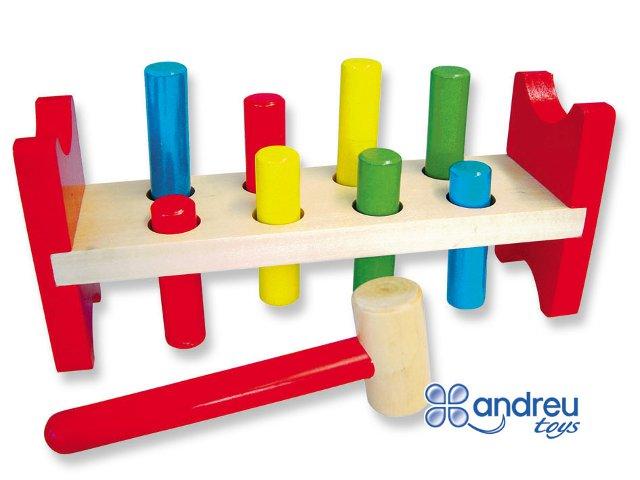 Banco Pica colores - Banco clásico de colores reversible con martillo