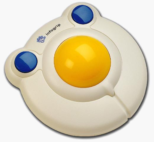 Bigtrack con conectores - Ratón de bola adaptado para uno o dos pulsadores