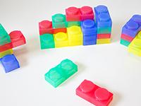 Bloques de construcción Silishapes - 24 piezas de silicona para construcción