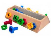 Caja para enroscar y desenroscar - Caja para practicar enroscando
