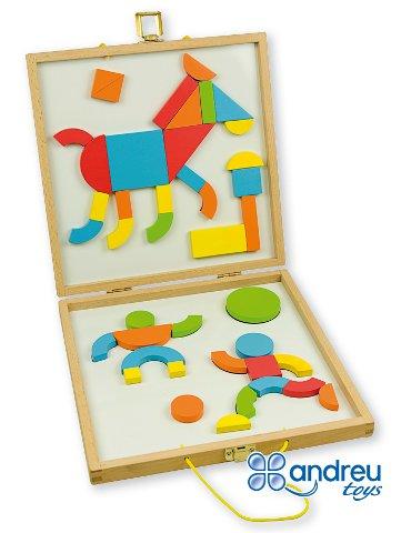 Caja formas magnéticas - 24 plantillas y 42 piezas