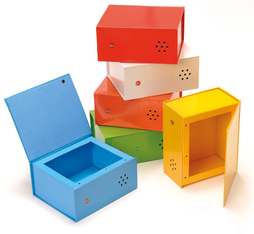 6 Rainbow talking boxes - Boxes with voice messages