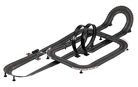 Circuito adaptado con loopings  - Impresionante circuito con dos loopings para manejar con conmutador