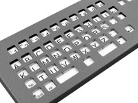 Metal keyguard for BigKeys LX - Metal keyguard for the BigKeys keyboard