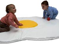 Colchoneta con forma de huevo - Divertida colchoneta de 160x115x10cm