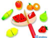 Comiditas frutas - Conjunto de 10 piezas para jugar a cortar frutas
