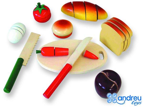 Comiditas variado - Conjunto de 10 piezas para jugar a cortar comida