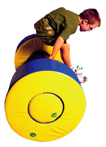 Conjunto de ruedas y cilindro - Ruedas y cilindro de terapia de 120 cm