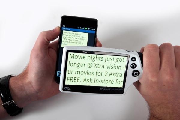 Crystal XL - Lupa digital de mano con pantalla AMOLED de 4.3