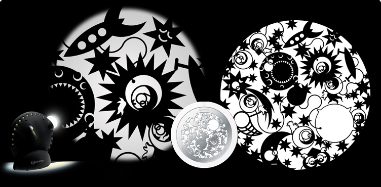 Space Projector graphic wheel - 12 different models to add extra effects to your projector
