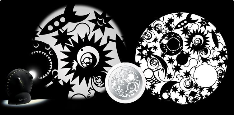 Disco gráfico para el Space Projector - 12 modelos para añadir efectos extra a tu proyector