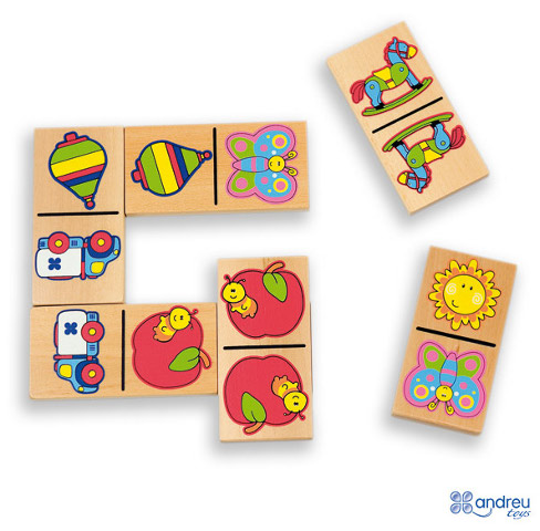 Domino etc - Domino with 28 pcs. and diverse designs
