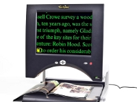 Eclipse Touch - Portable and desktop easy to use magnifier with touchscreen