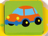 Geometric puzzle vehicles - Wooden puzzle with geometric vehicle shapes