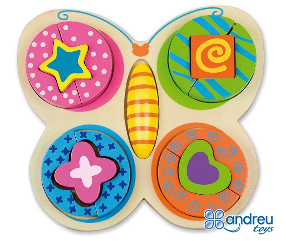 Butterfly puzzle - Wooden butterfly shaped puzzle