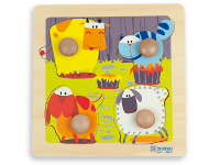 Puzzle Big Pegs - Farm - With easy-grip giant pegs