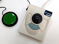 enTrackball adaptado - Trackball adaptado para el uso con hasta 2 pulsadores