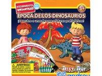 Época de los dinosaurios - Kit con libro ecuadernable, rompecabezas y lápices de colores