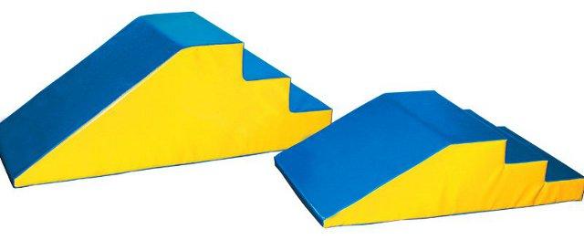Escalera rampa pequeña - Escalera con rampa de 110 x 60 x 30 cm
