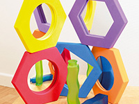 Hexagonal Softies - Set of 5 foam mirrors