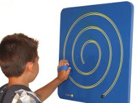 Blue labyrinth wall - Blue labyrinth wall to work motor skills