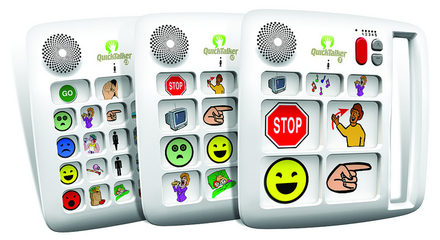 Quick Talker 23 - Communication board with 103 messages
