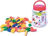Figuras engarzables soft - Set de 64 piezas de colores