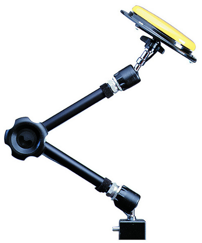 Articulated arm with clamp - Includes fitting clamp to connect to tables and wheelchairs