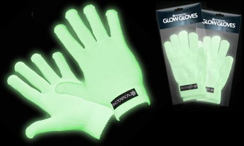 Guantes fosforescentes - Brillan en la oscuridad y bajo luz UV