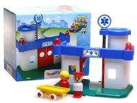 Hospital de la ciudad - Incluye hospital, camilla y 2 personajes
