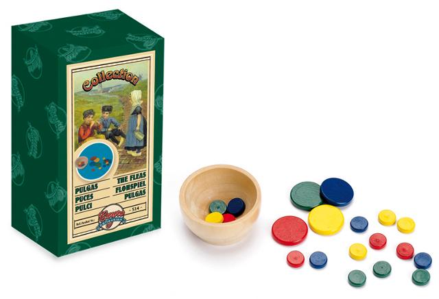 Las pulgas - Reproducción vintage del juego de las pulgas